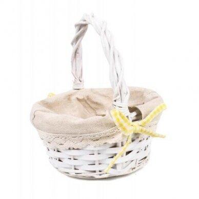Krepšelis su medžiaga mažas - įvairių spalvu kaspinėlis 5
