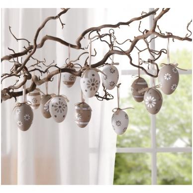 """Dekoratyviniai kiaušiniai """"Pastelinės gėlės"""", 12 vnt."""