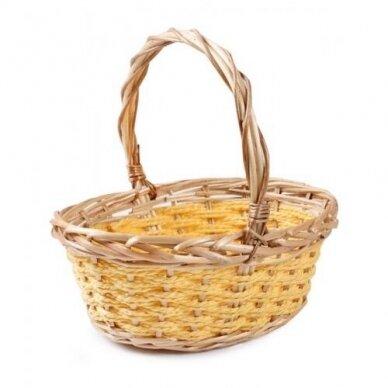 Krepšelis geltonas ovalus