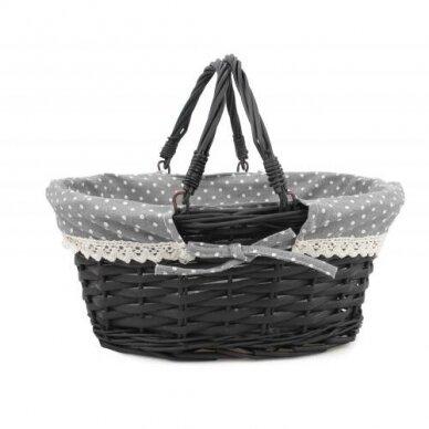 Krepšelis su kilnojamomis rankenomis 'juodas'