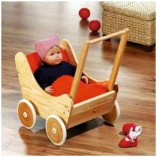 Medinis vežimėlis lėlei