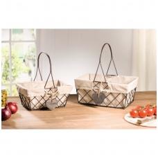 Metaliniai krepšeliai, 2 vnt.