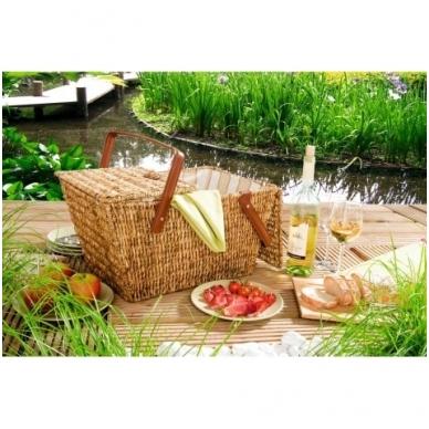 Medaus spalvos pikniko krepšys