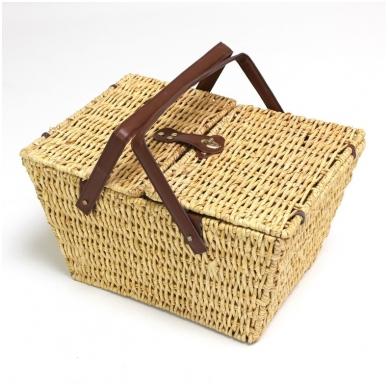 Medaus spalvos pikniko krepšys 2