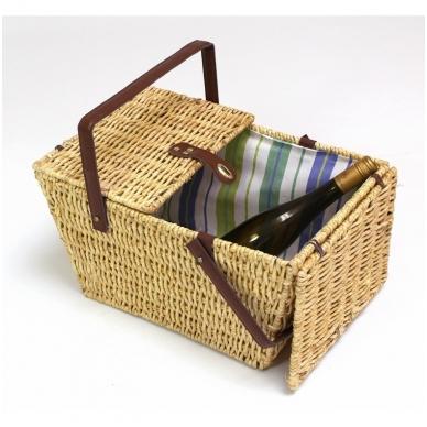 Medaus spalvos pikniko krepšys 3