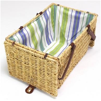 Medaus spalvos pikniko krepšys 4