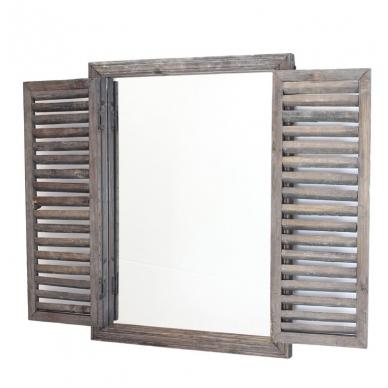 Medinis lango imitacijos veidrodis