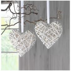 """Pakabinamos dekoracijos """"Baltos širdys"""", 2 vnt."""