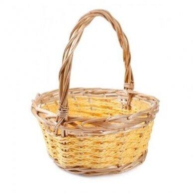Krepšelis geltonas ovalus 3