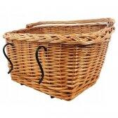 Pintas dviračių krepšys, stačiakampis, natūralus dviračių krepšys, ilgis 47 cm