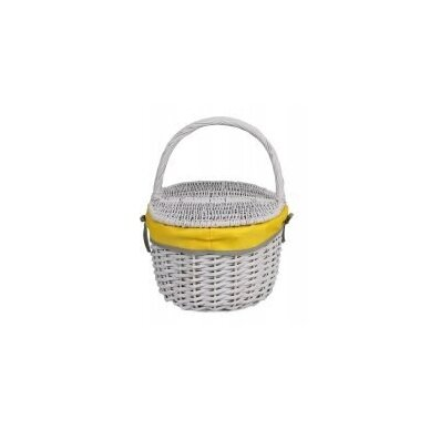 Pikniko krepšelis su gelsvu audinio įdėklu 3