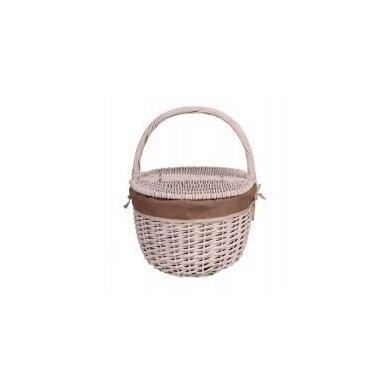 Pikniko krepšelis su rudu audinio įdėklu 3